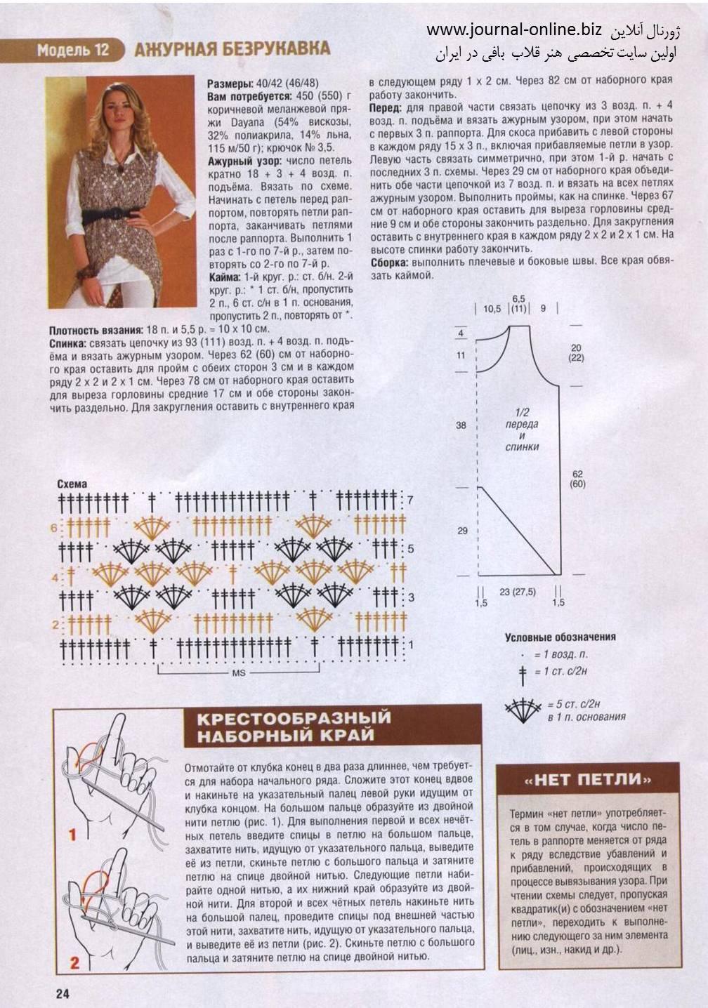 Фото схемы вязаной жилетки крючком
